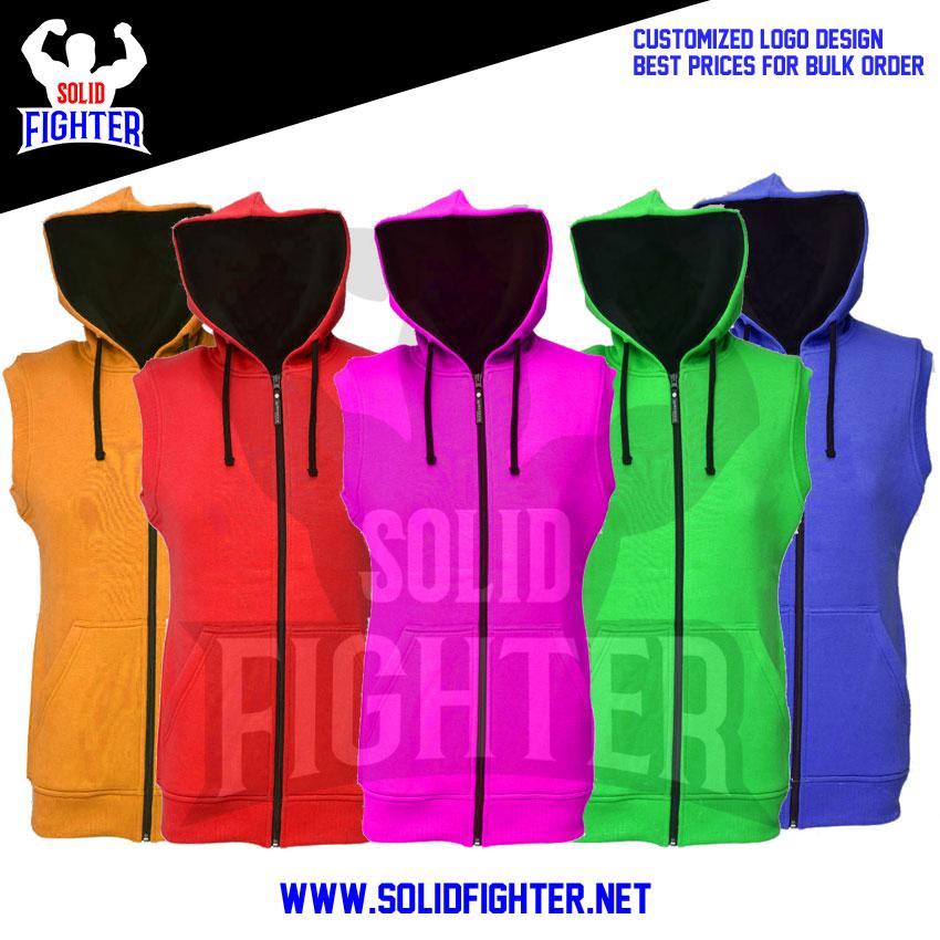harmonious colors select for original fashion style Sleeveless Hoodies | zipper style |Customized Clothing ...